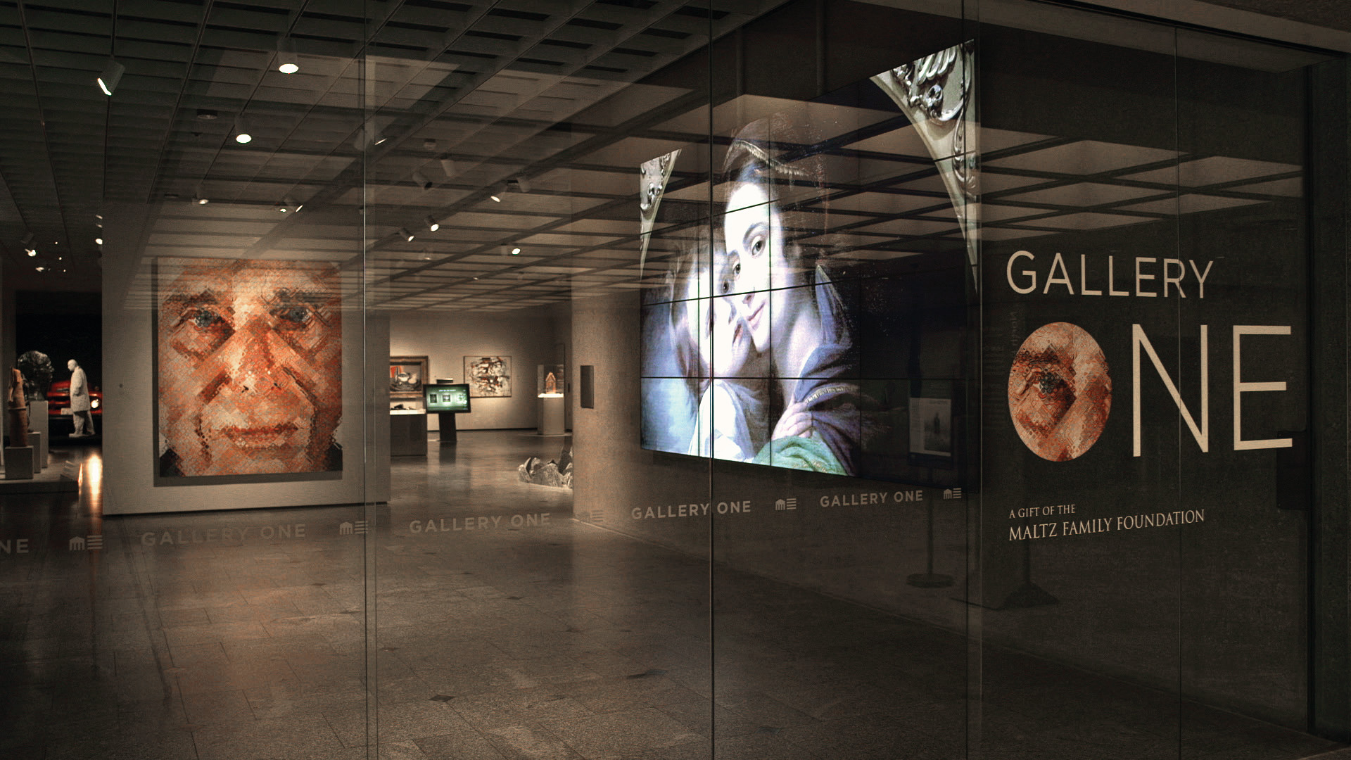 a view of gallery one from the main lobby of the cleveland museum of art  photo courtesy of