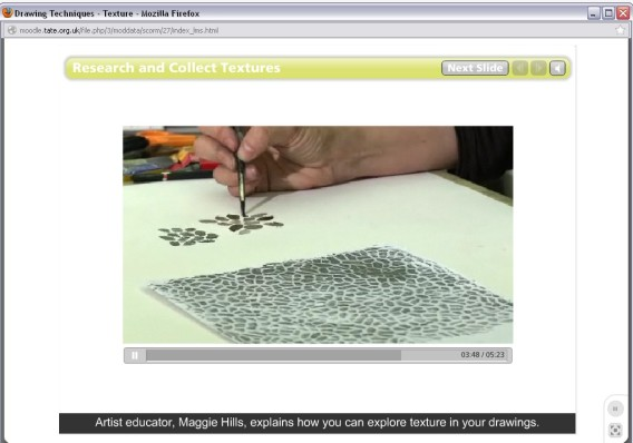 An inside look at the Tate online courses. Courtesy Tate Museum.