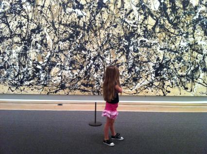 Observing Jackson Pollock's 'Autumn Rhythm (Number 30)', Metropolitan Museum of Art, New York; http://blog.chron.com/babysteps/