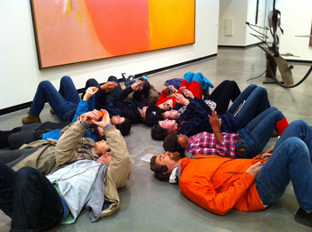 Students from Portland State University's MFA in Art and Social Practice at the Portland Art Museum, 2010. Photo: Jason Sturgill