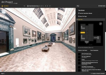 Google Art Project lets us inside the Tate Britain (among many other art museums) from our computer or mobile device.