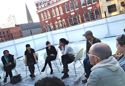 Breakout session at Portland Institute of Contemporary Art during Open Engagement 2013.