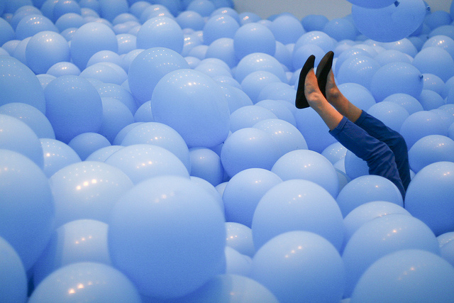 Nothing signifies 'play' like this installation by Martin Creed. Photo by Nicolas Mirguet.