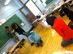 Students embody their interpretations