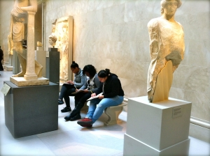 Students reflecting at the Metropolitan Museum of Art