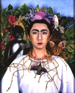 Yasumasa Morimura, An Inner Dialogue with Frida Kahlo (Collar of Thorns), Color photograph, 2001 Museum purchase, International and Contemporary Collectors Fund 2002.9. Image from http://carearts.org/