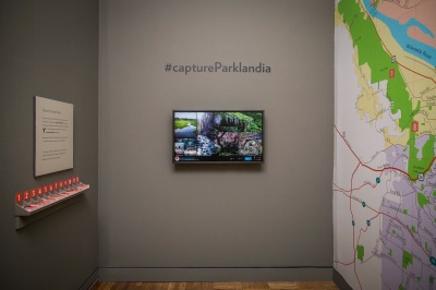 In-gallery experience for #captureParklandia at the Portland Art Museum.