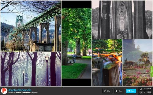 Screen shot of #captureParklandia's Instagram gallery via the web app Slidely