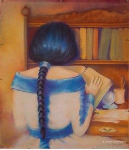 """Lorraine García-Nakata, """"The Alchemist,"""" Pastel on Paper, 29""""x 30,"""" 2005"""