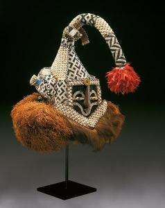 Democratic Republic of the Congo, Kuba peoples, Helmet mask (mukenga),  mid-20th century, Dallas Museum of Art, gift in honor of Peter Hanszen Lynch and Cristina Martha Frances Lynch.
