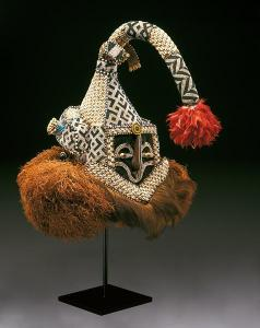 Democratic Republic of the Congo, Kuba peoples, Helmet mask (mukenga),  mid-20th century, Dallas Museum of Art, gift in honor of Peter Hanszen Lynch and Cristina Martha Frances Lynch.