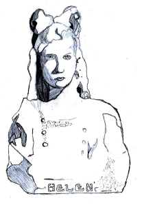 In-game illustration of Helen by one NYC Haunts Ghost Hunter.