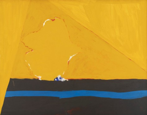 Robert Motherwell, Ochre Still Life with Blue Stripe (1966).  http://risdmuseum.org/art_design/objects/1998_ochre_still_life_with_blue_stripe