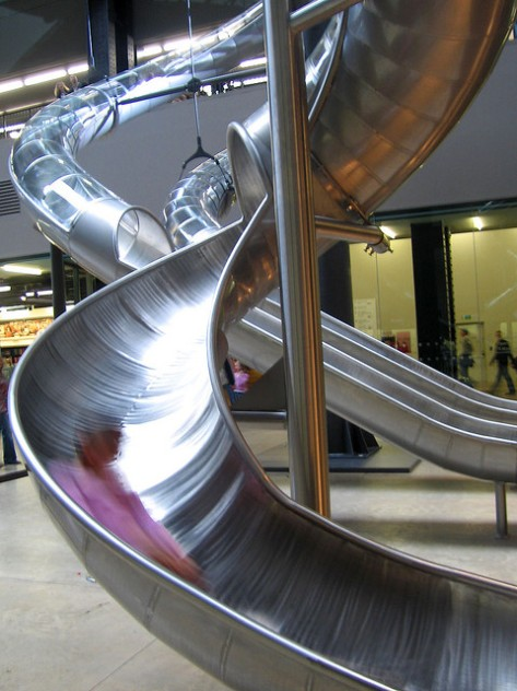 "Carsten Höller ""Test Site"" installation at Tate Modern, 2006. Photo by David Sim, Creative Commons 2.0 license"