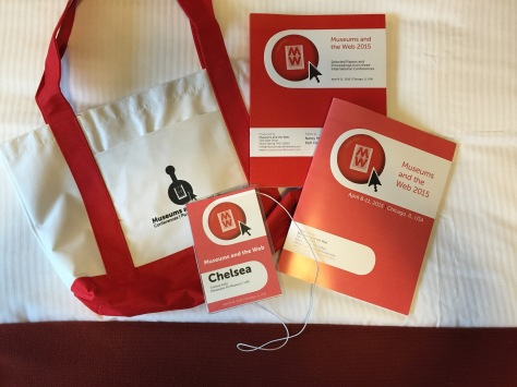 Museums and the Web does conference swag right. Check out those tote bags. Photo by the author.