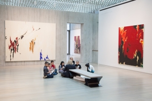 Students participating in the InStill program at the Clyfford Still Museum. Photo by Jensen Sutta