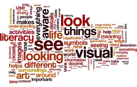 Staff feedback to Visual Literacy workshops.
