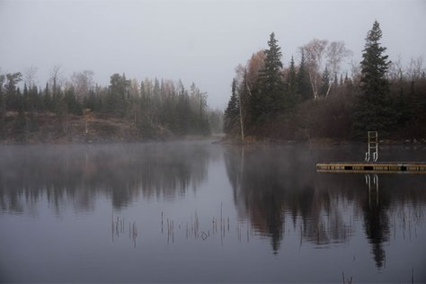 A foggy lake before a morning swim. Credit: Morning Swim/Sarah Watkins