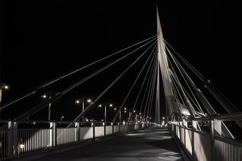 A quiet evening on Winnipeg's Esplanade Riel. Credit: Shadow Walk/Sarah Watkins